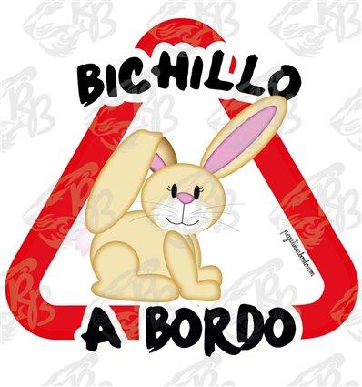 BICHILLO A BORDO, CONEJITO DE LADO A BORDO