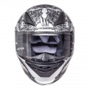 Casco MT Revenge Skull&Roses Black Silver