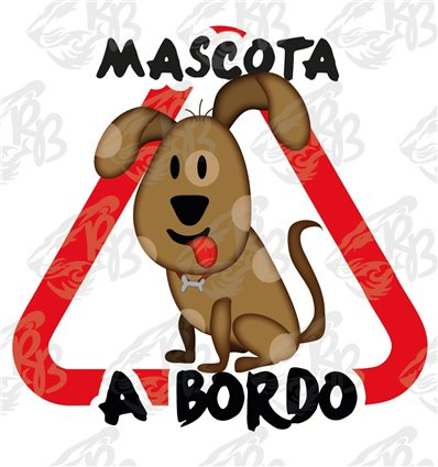 Perro marrón con lengua fuera a bordo