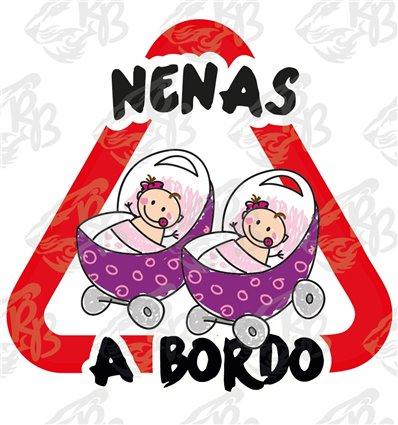 NENAS, BEBES NIÑAS EN CARRO A BORDO