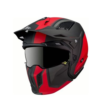 CASCO MT STREETFIGTHER SV TWIN C5 ROJO MATE