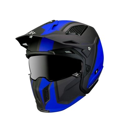 CASCO MT STREETFIGTHER SV TWIN C7 AZUL MATE