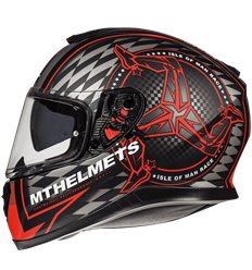 Casco MT Thunder 3 SV ISLE OF MAN B5 Matt Fluor Red