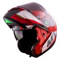 Casco MT ATOM SV TRANSCEND F5 ROJO BRILLO