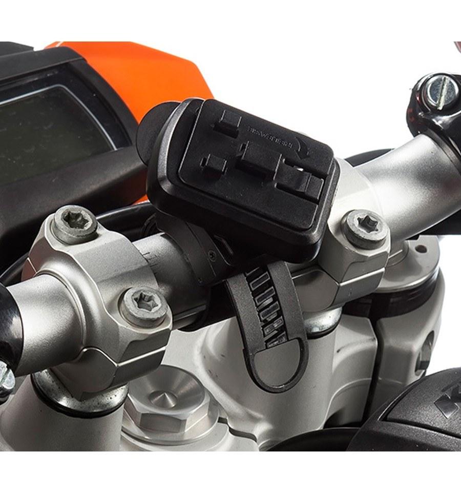 Accesorio de Correa con pletina de montaje rapido al manillar de la moto