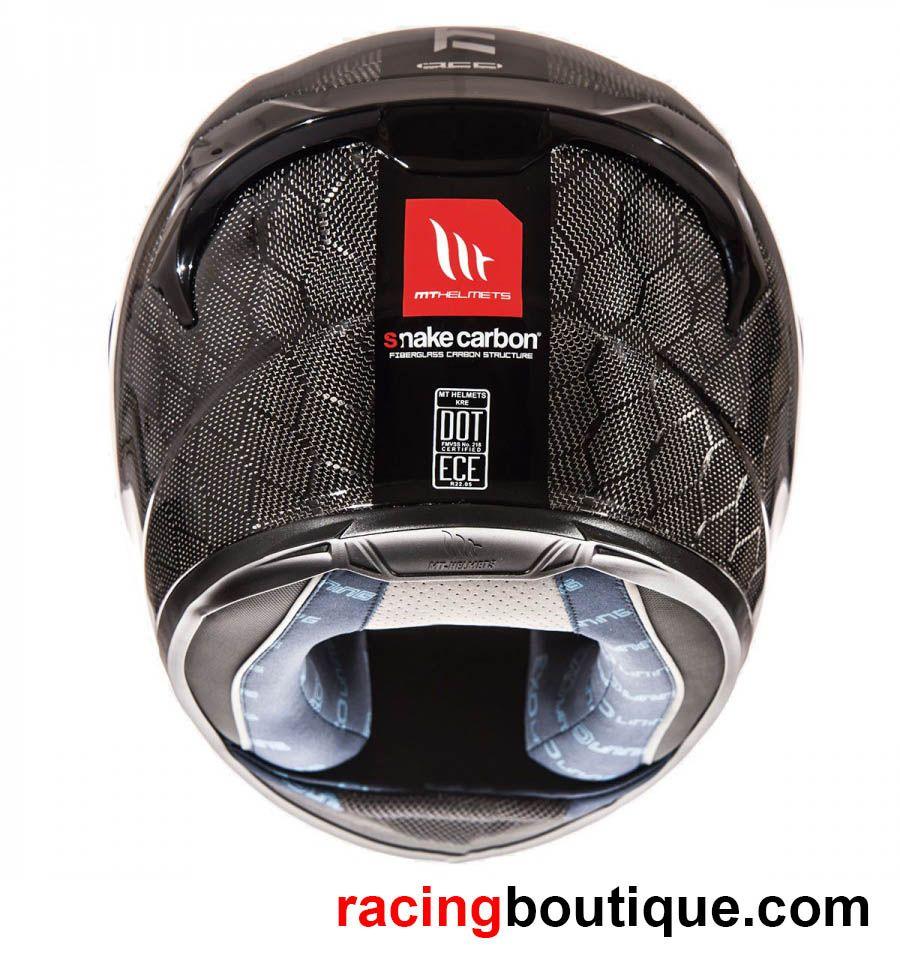 casco de fibra de carbono de mt helmets kre snake carbon